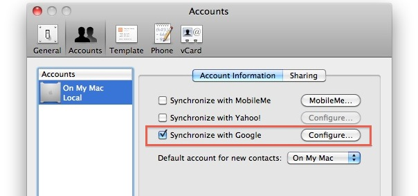 Sync Your Mac Address Book With Google Contacts Osxdaily