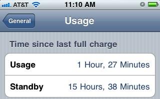 использование батареи iphone