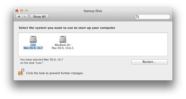 выберите загрузочный диск Mac