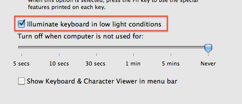 Настройка клавиатуры Apple Backlit с iMac 2011 года