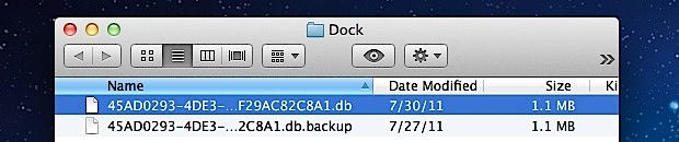 OS X Lion's Launchpad database files