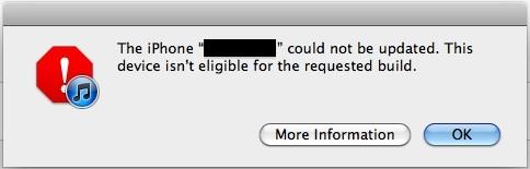 Исправить устройство не подходит для сборки ошибка iTunes