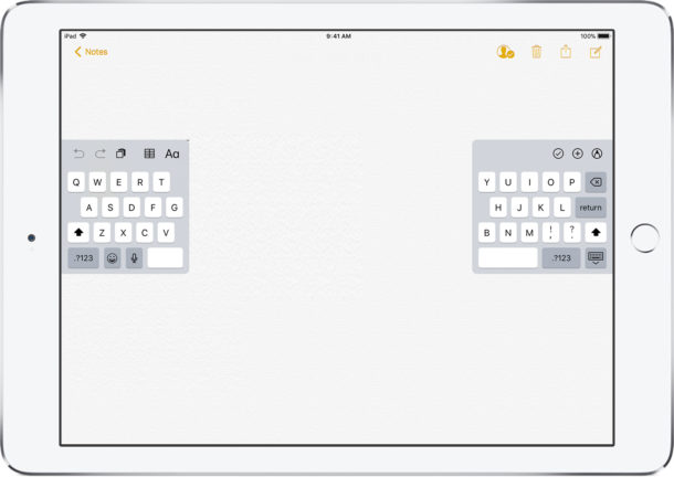 How to Split the iPad Keyboard For Easier Typing