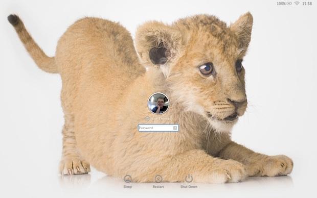 Измените обои для входа в Mac OS X Lion