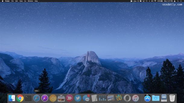 Скрыть и свернуть все окна Mac