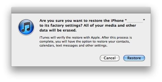 Восстановить iPhone или iPad