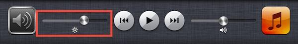 Контроль яркости iPad
