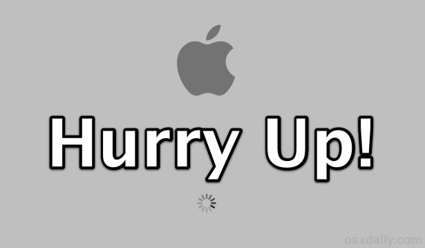 4 Tips to Speed Up Reboot & Start Up Time in Mac OS X