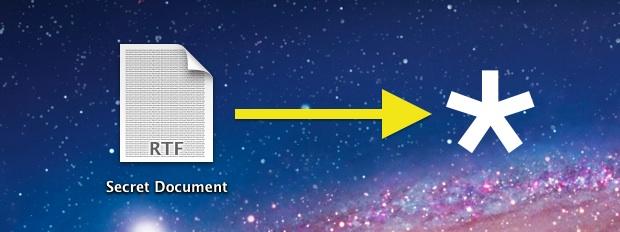Скрыть файл в Mac OS X