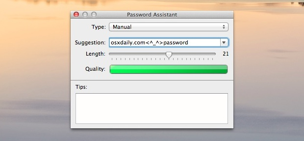 Test Password Strength & Generate Secure Passwords in Mac OS X