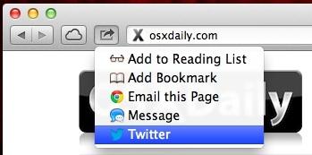Tweet from Safari in OS X Mountain Lion