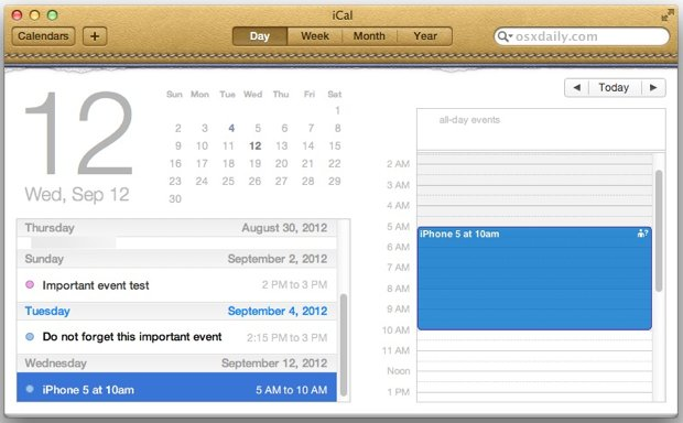 Use Event Invitations for iOS and OS X