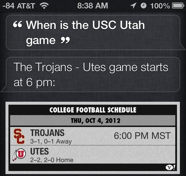 Check Sports times, scores, and more with Siri