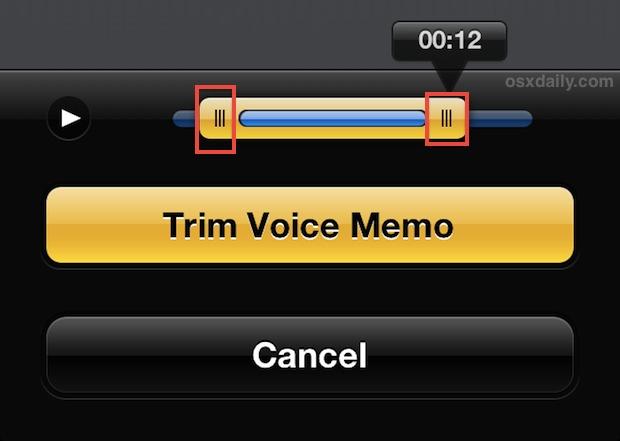 Trim Voice Memo on iPhone