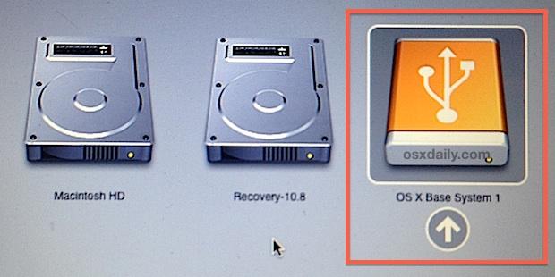 OS X Mavericks drive di installazione avviabile