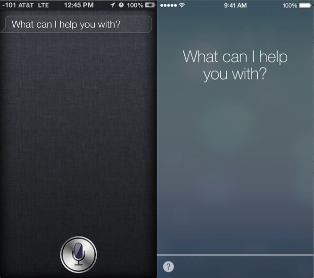Siri in iOS 6 vs iOS 7