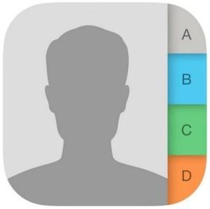 Значок контактов iPhone