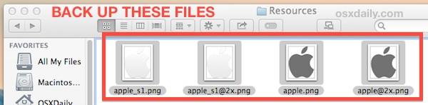 резервное копирование исходных изображений экрана входа в систему