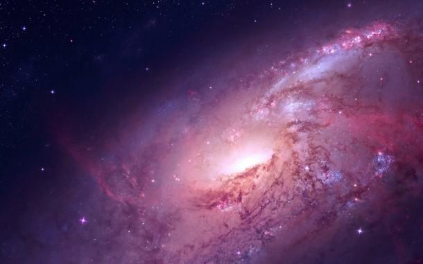 Красно-розовая галактика высокого разрешения