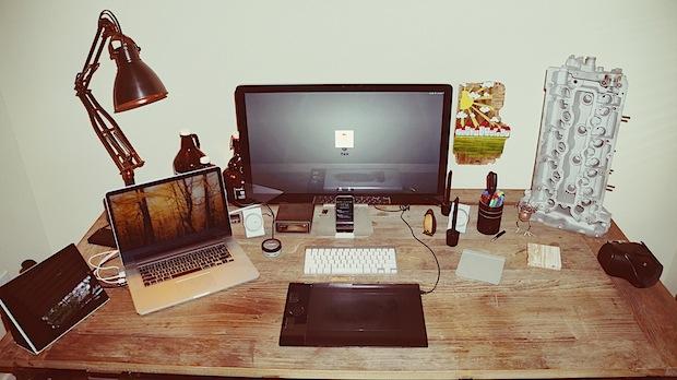 mac setups desk of