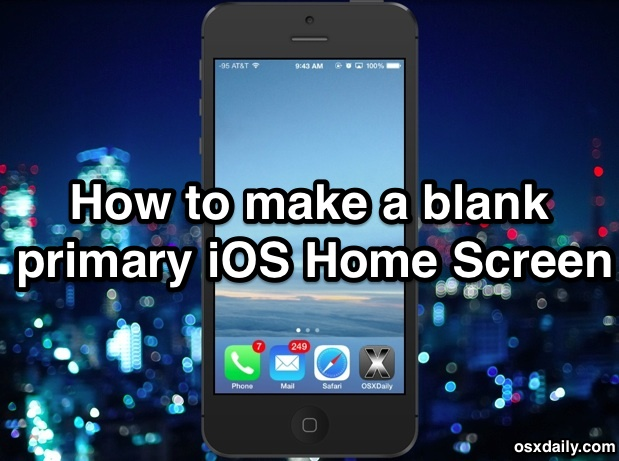 Iphone Os X Wallpaper How To Get An App Free Blank Home Screen In Ios