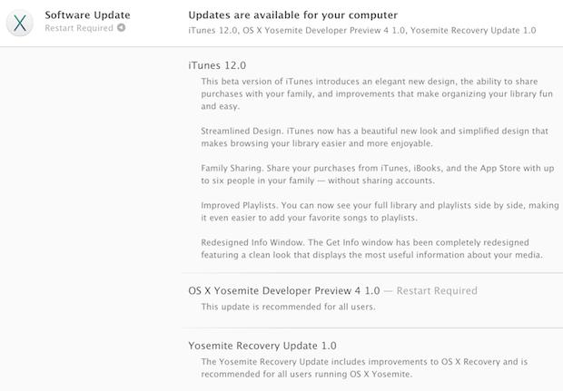 OS X Yosemite Developer, предварительная версия 4