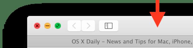 Дважды щелкните, чтобы развернуть окно в Mac OS X