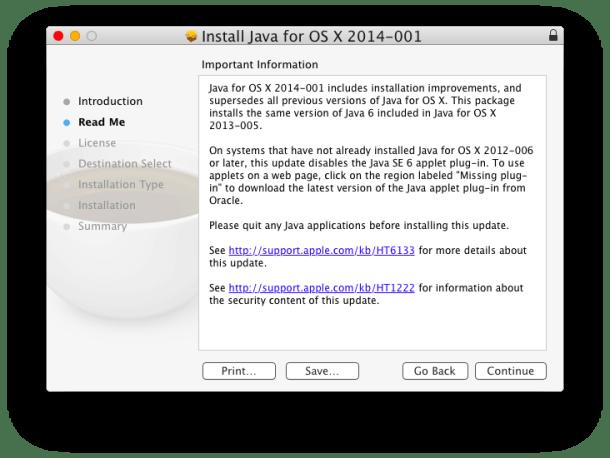 Установка Java в OS X Yosemite