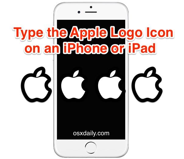 type the apple logo