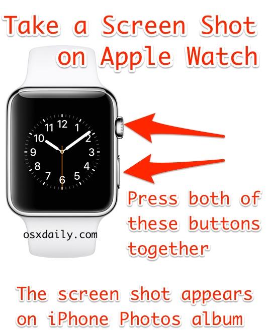 Как сделать снимок экрана на Apple Watch
