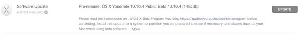 OS X Yosemite 10.10.4 бета 5