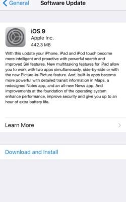Скачайте и установите iOS 9