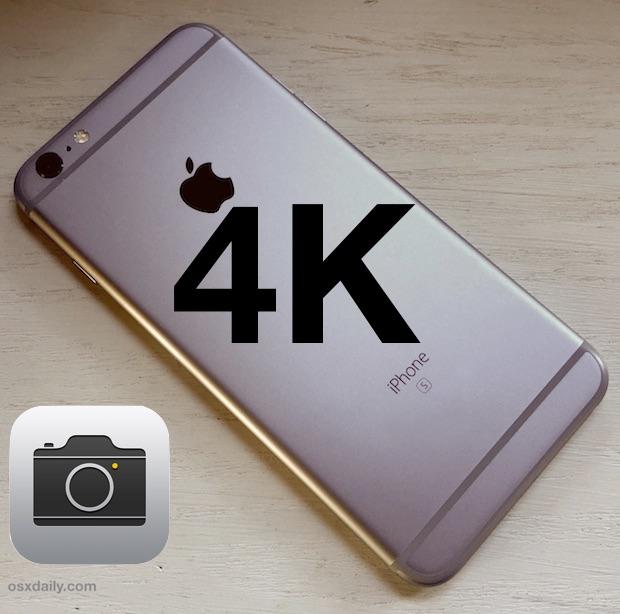 Запись видео 4K на iPhone