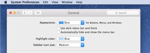 Отключение темного режима в OS X для цвета светового режима по умолчанию