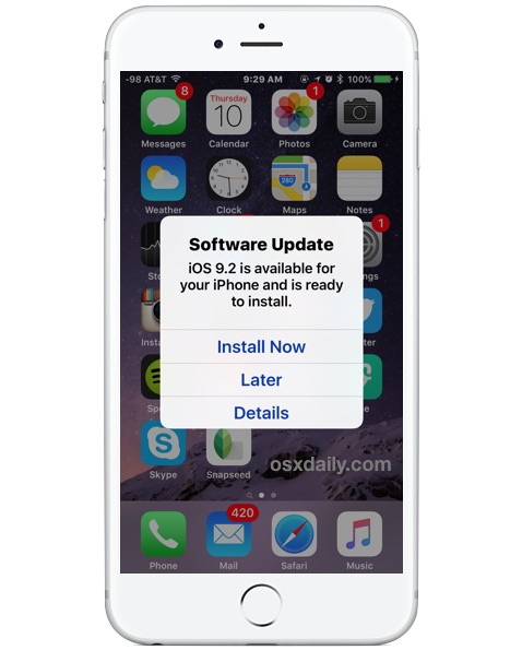 Automatically Install Ios Software Update In The Middle Of