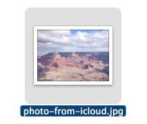 Пример фотографии, загруженной из iCloud