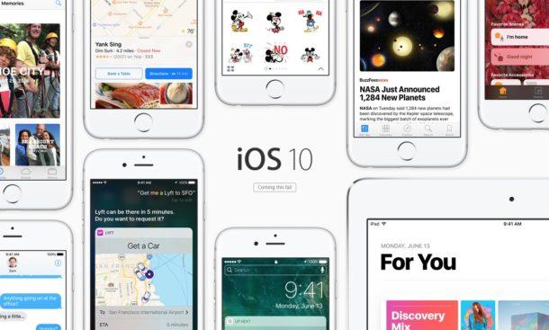 iOS 10 поддерживает широкий спектр оборудования