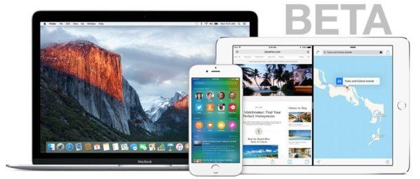 MacOS Beta и iOS Beta