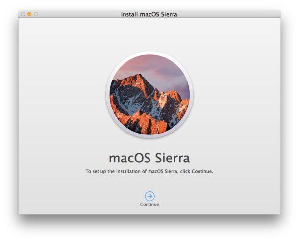 Bootable macOS Sierra installer