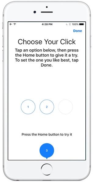 Изменение обратной связи по силе нажатия кнопки «Домой» на iPhone