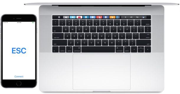 Клавиша выхода iPhone для Mac