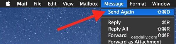 Отправить сообщения электронной почты еще раз в приложении Mac Mail