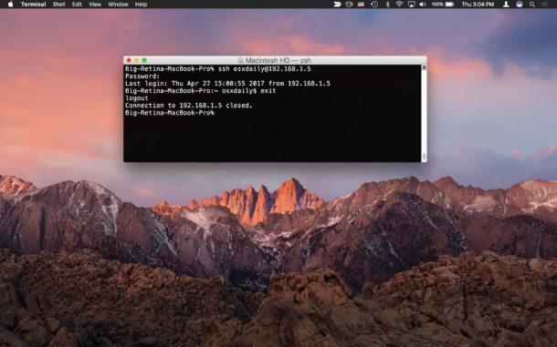 Как использовать SSH на Mac