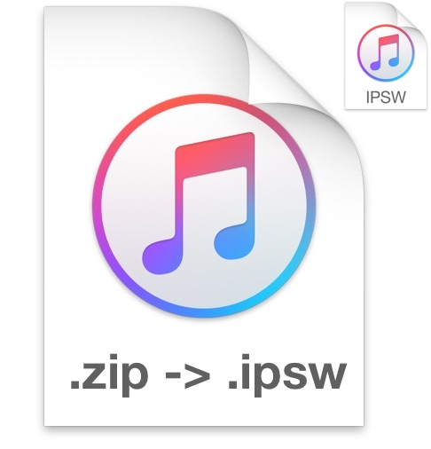 Convert a ZIP to IPSW firmware