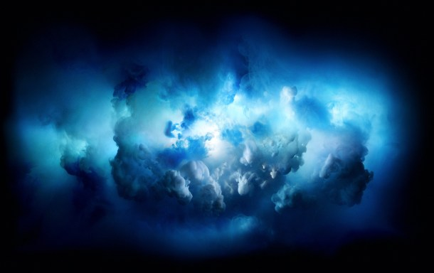 iMac Pro wallpaper of colorful cloud burst