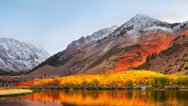 The MacOS High Sierra default wallpaper