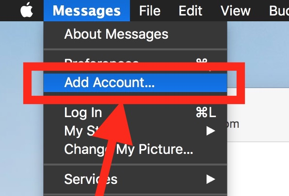Add an account to Messages for Mac for Google Hangouts