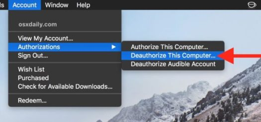How to deauthorize a computer in iTunes