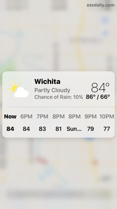 Get weather details Maps 3D Touch trick