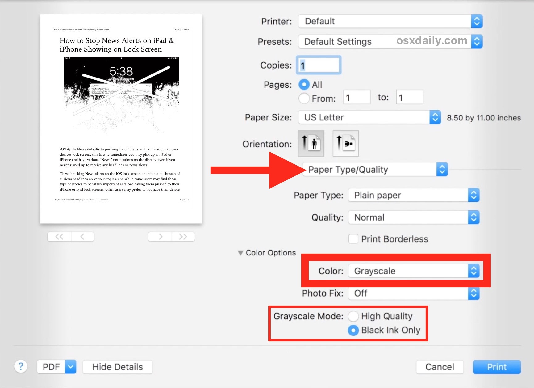 How To Print Black And White On A Mac Apple Pages